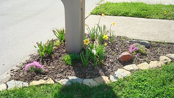 Garden Ideas Around Mailbox landscape designs around mailboxes: easy mail box landscape