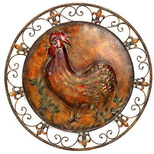 Charming Our New Rooster Decor For Lots Of Fun Colorful Accents